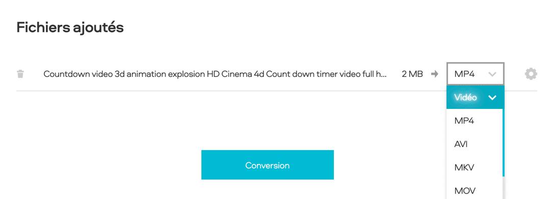 Convertir une vidéo en MP4 en ligne