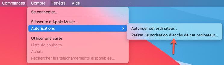 Retirer l'autorisation d'accès aux logiciels Mac et tiers.