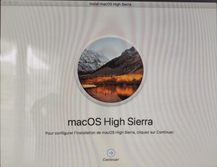 Réinstaller MacOS