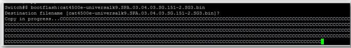 Copier le nouveau firmware du switch Cisco sur la carte supervisor