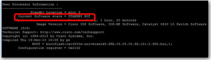 Vérifier la redondance des cartes supervisor sur un switch Cisco 4507