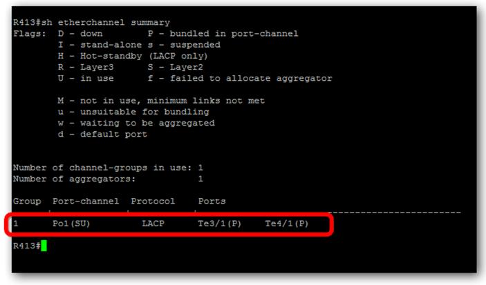 Vérification de la configuration du port-channel sur le châssis Cisco