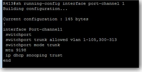 vérifier la configuration des ports et vérifier les Vlan propagés sur le Po du switch Cisco