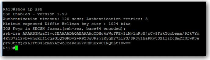 Vérifier si le SSH est actif sur le switch Cisco