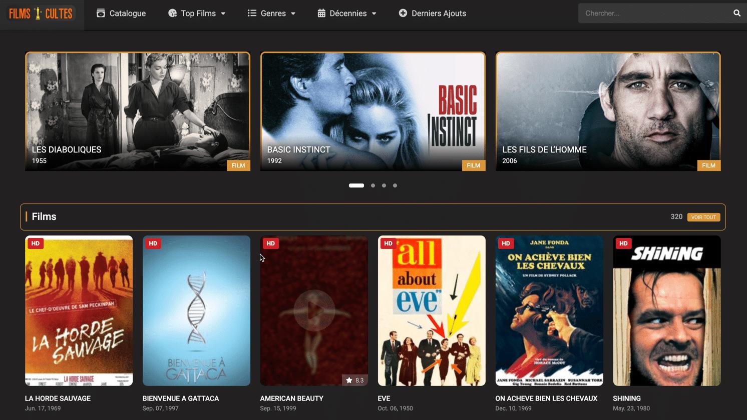 Découvrez ou redécouvrez les films cultes de ces dernières années. des centaines de films en accès libre, sans inscription.
