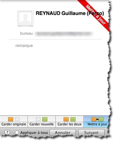 Vos contacts Thunderbird sont importés dans l'application Contacts de MAC