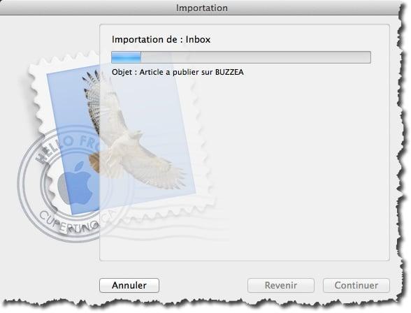Transfert des mails depuis Thunderbird vers Mail de MAC