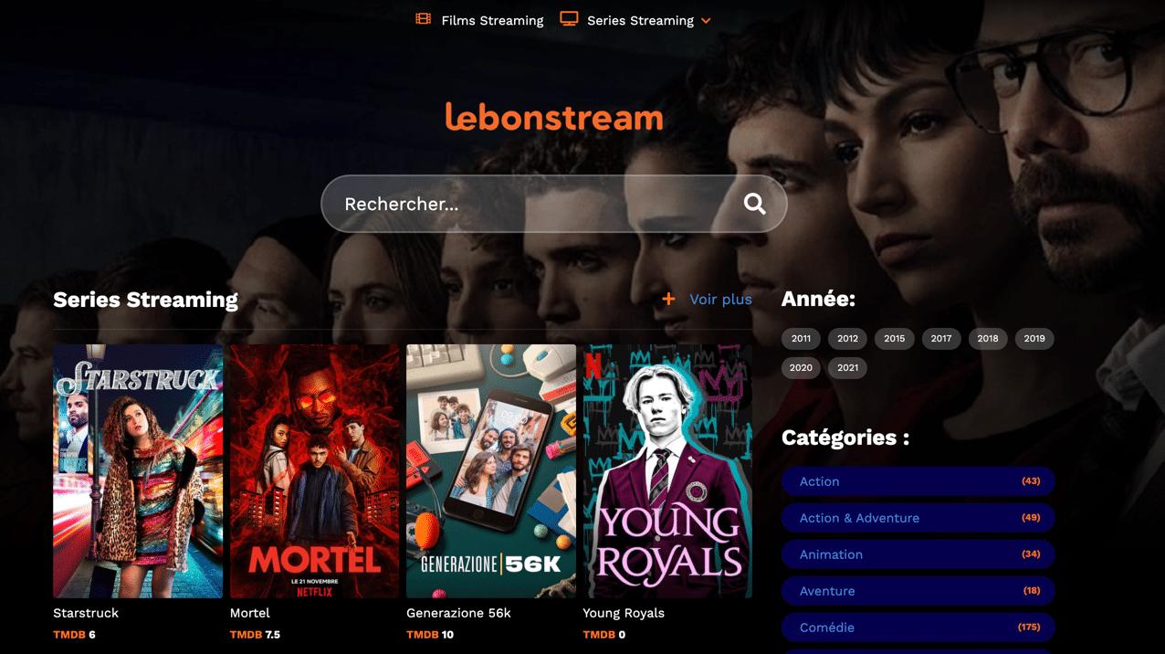 Regarder une panoplie de séries et de films en streaming sans inscription nécessaire sur le site
