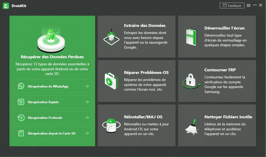 Récupérer les données supprimées sur Android avec DroidKit
