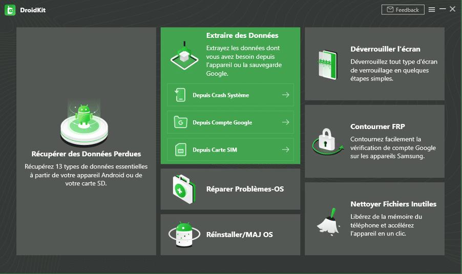 Récupérer les données Android à écran noir avec DroidKit