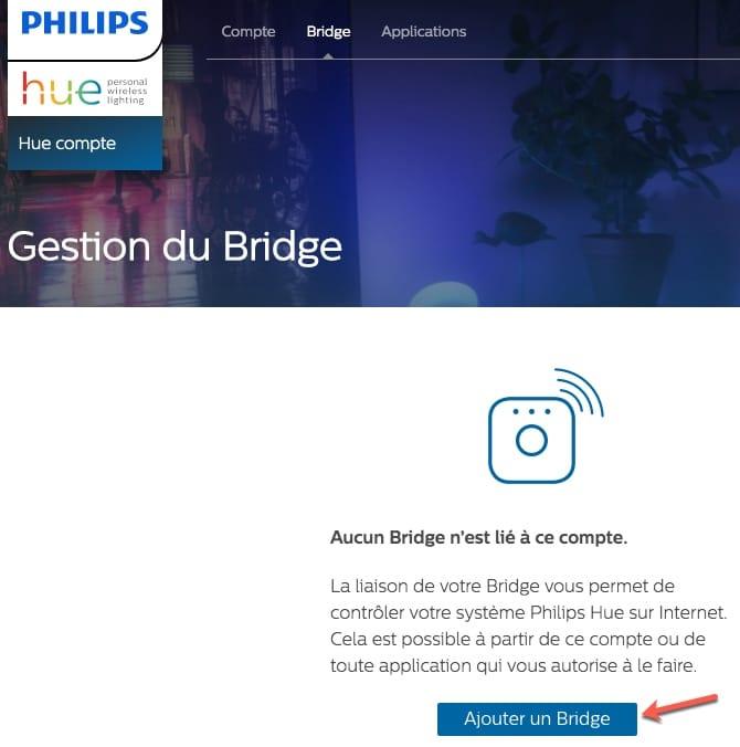 Associer votre pont HUE à votre compte Philips HUE