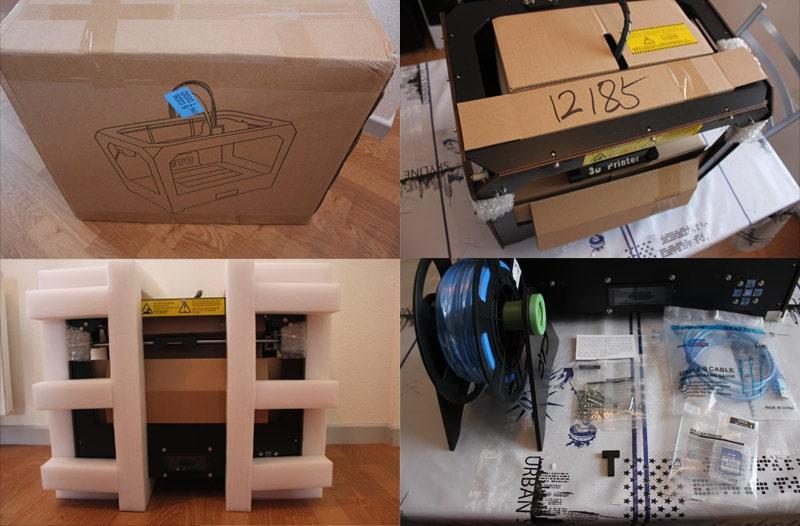 Le déballage de l'imprimante 3D