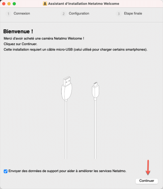 Utiliser Netatmo Welcome Wizard pour débloquer votre caméra Netatmo