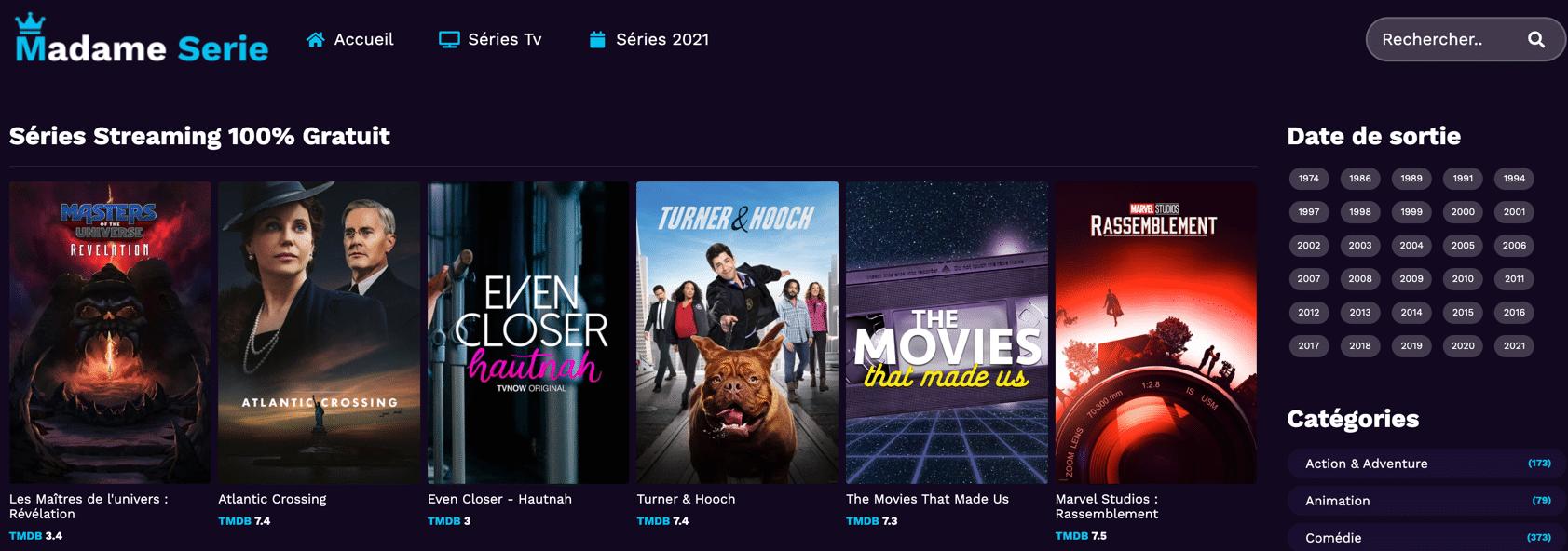 Regardez en streaming et téléchargez des séries gratuites sur Madame Série. Vivez votre passion du streaming gratuitement et de la meilleure qualité possible !