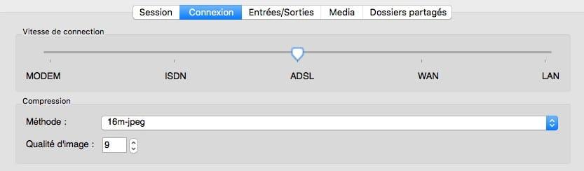 Configuration du client X2Go.