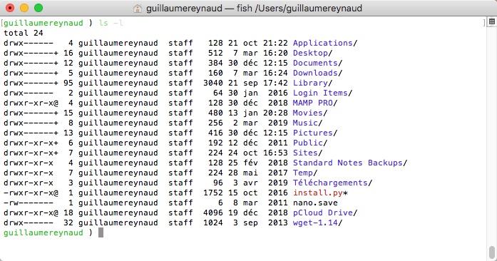 Configurer le shell Fish