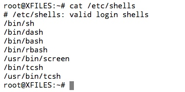 Afficher les Shell d'installés sur votre système Linux