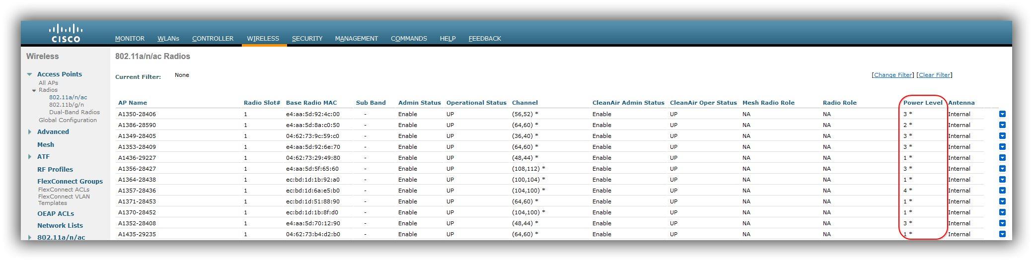 Connaitre la puissance d'émission de vos bornes WIFI avec Cisco Prime