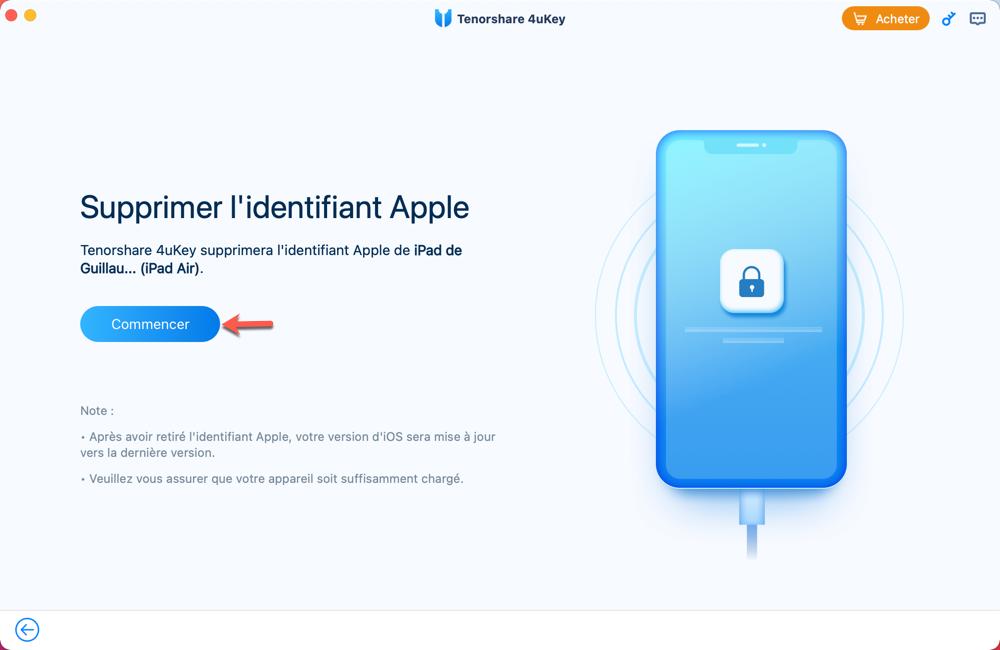 Supprimer un identifiant Apple