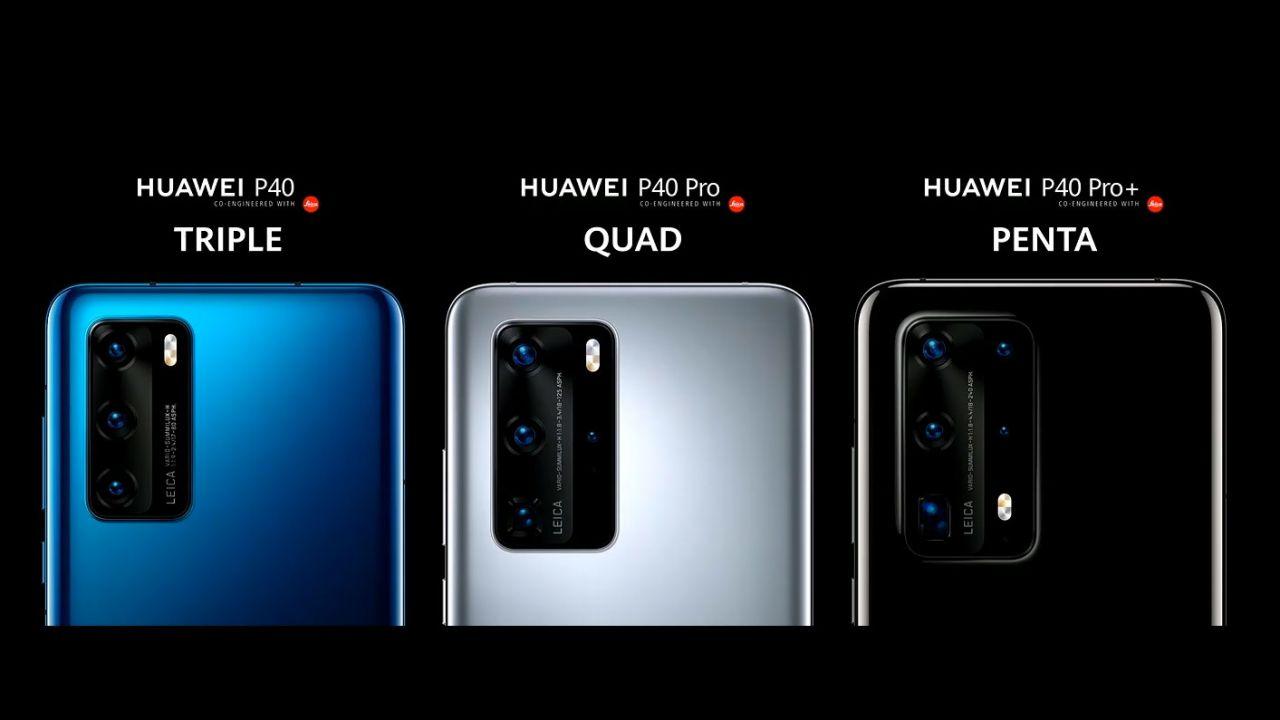 les différents modèles d'Huawei P40