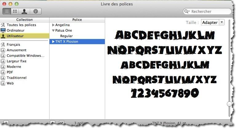 installer une police sur mac photoshop