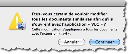 modifier le logiciel pour ouvrir un type de fichier sous MAC