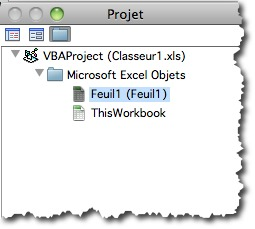 éditeur de macro sous Excel langage VBA