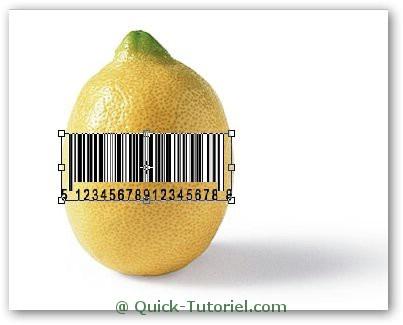 Créer un code barre avec Photoshop sur un citron