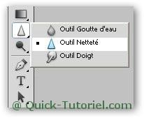 Utiliser l'outils Netteté