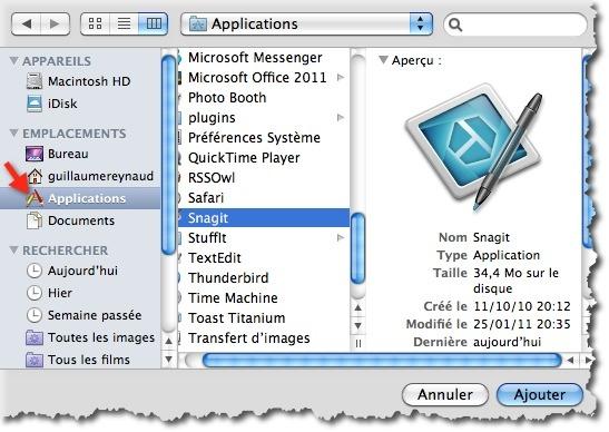 Sélectionner une application à lancer au démarrage de votre MAC