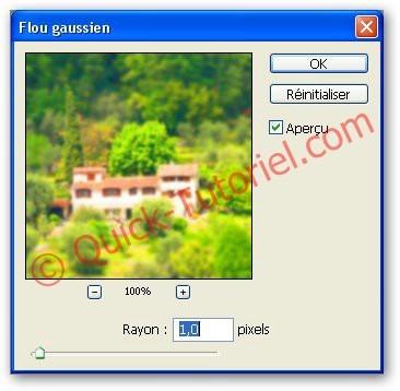 appliquer un flou gaussien sur une photo dans Photoshop