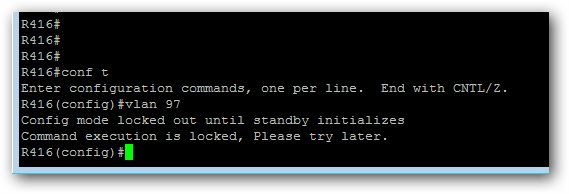 Message d'erreur Config mode locked out until standy initializes sur un chassis Cisco 4507
