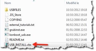 Créer un boot de démarrage sur une clé USB de Kon-Boot