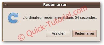 Redémarrer Ubuntu