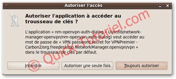 Lancer une connexion sous VPN sous Ubuntu