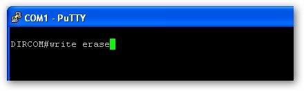 écraser la configuration se trouvant dans le startup-config du routeur avec la commande write erase