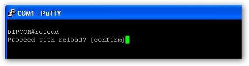 relancer votre routeur Cisco avec la commande reload