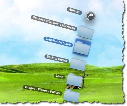 Trouver rapidement un répertoire ou un fichier dans une pile du dock.