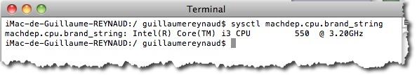 Afficher des informations précises sur votre processeur grâce à la commande sysctl