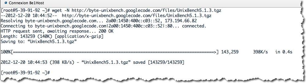 Installation de UnixBench