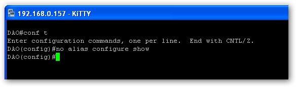 supprimer un alias sur un routeur Cisco