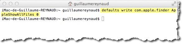 cacher les fichiers sensibles sous MAC depuis le terminal