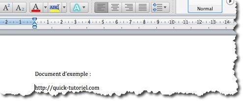 option Adresses internet et réseau par des liens hypertextes dans Word sous MAC