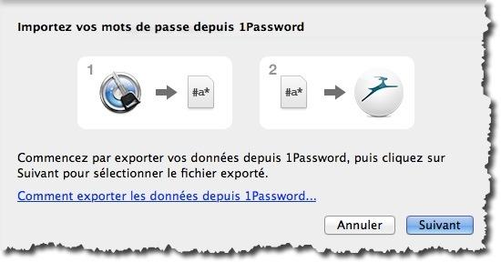 Importer vos mots de passe de 1Password vers Dashlane, pas de ressaisi