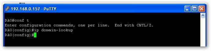 réactiver la fonctionnalité ip domain-lookup sur un routeur Cisco