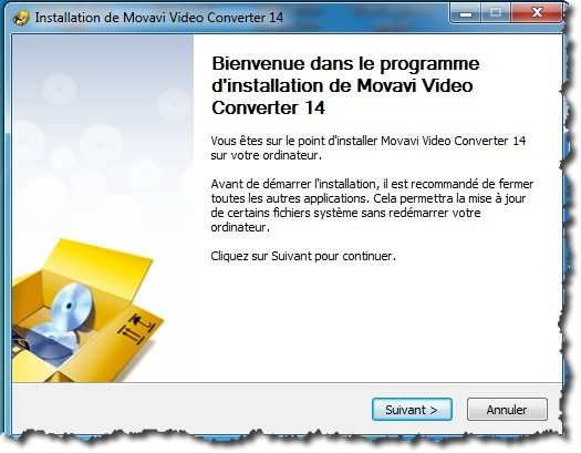 Installation de Movavi Video Converter
