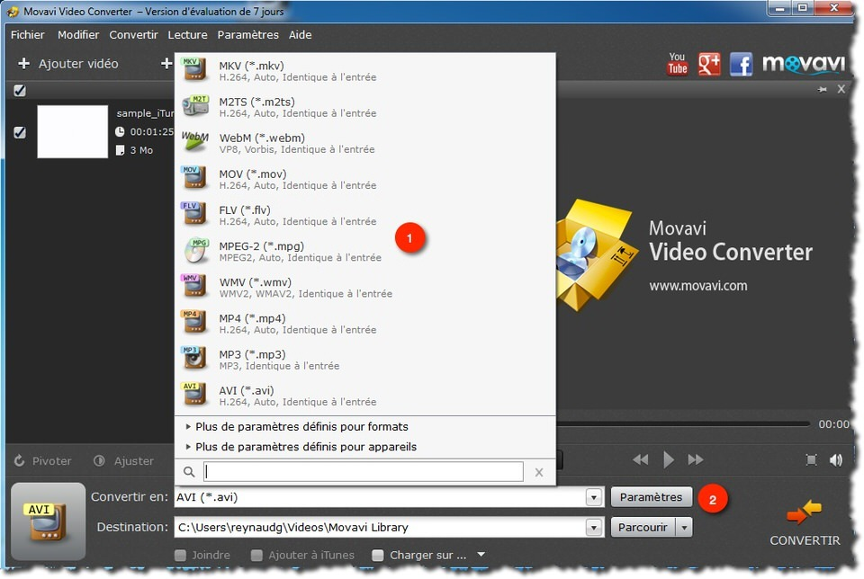 Convertir une vidéo .Mov avec Movavi Video Converter