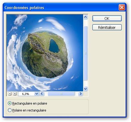 coordonnées polaires dans Photoshop