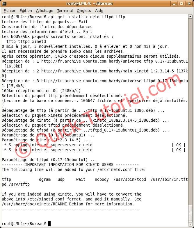 Installer TFTPD sous ubuntu