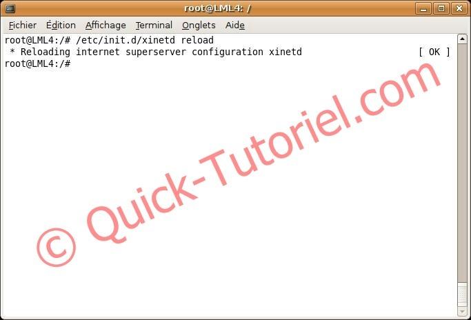 redémarrer xinetd sous ubuntu en ligne de commande